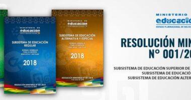 Resolución Ministerial Nro 001/2018