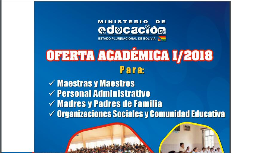 Oferta académica Bolivia 2018