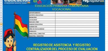 Registro Pedagógico Nivel Primario 2018