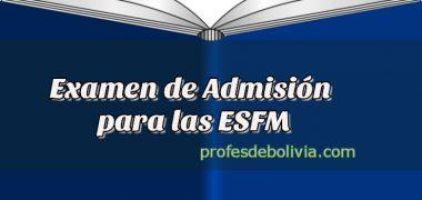 Modelo de Examen para ESFM