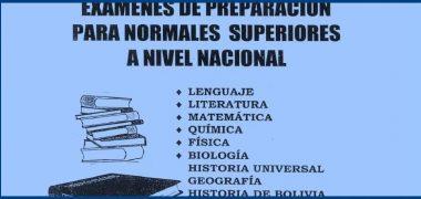 EXÁMENES DE PREPARACIÓN PARA EL INGRESO A LAS NORMALES SUPERIORES