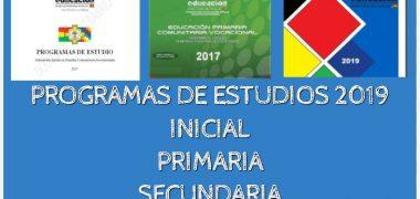 PROGRAMA O PLAN DE ESTUDIOS【2019】