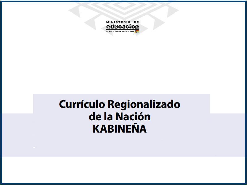 curriculo regionalizado de la nacion kabineña