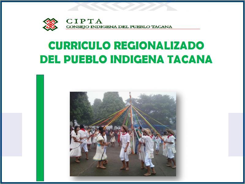 curriculo regionalizado del pueblo indigena tacana