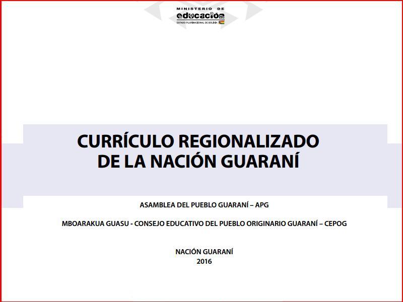 curriculum regionalizado guarani