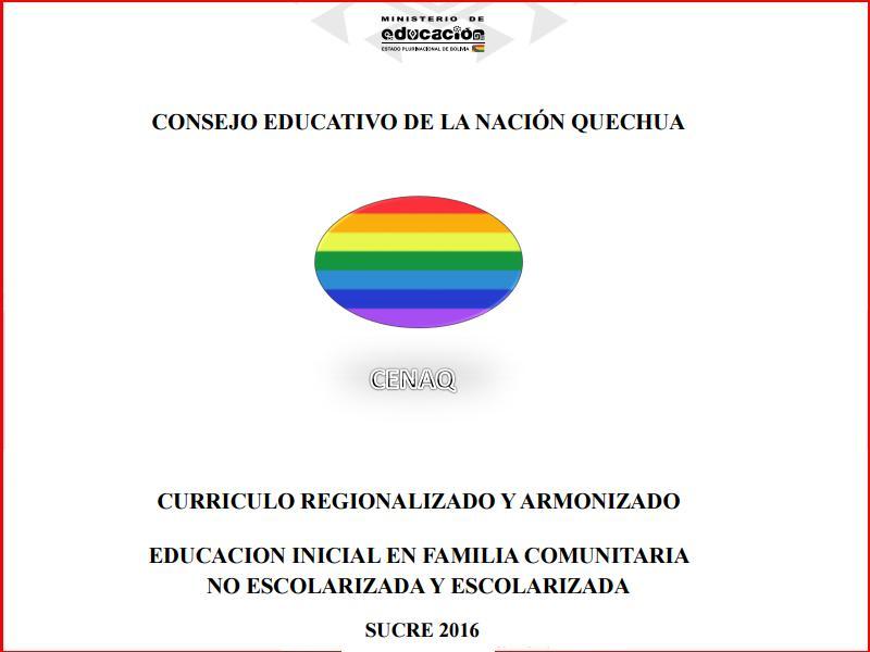 curriculum regionalizado quechua inicial