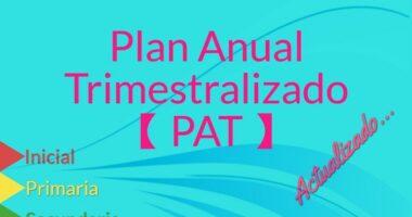 Plan Anual Trimestralizado【PAT】y【PDC】 Inicial, Primaria y Secundaria