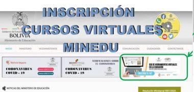 Inscripciónes A Los Cursos Virtuales Del MINEDU Para Maestros