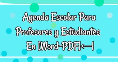 Agenda Escolar Para Profesores y Estudiantes Editable En [Word-PDF]← 