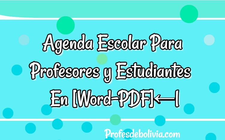 agendas estudiantiles para estudiantes y profesores