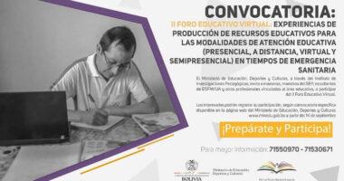 II Foro virtual: experiencias y producción de recursos educativos