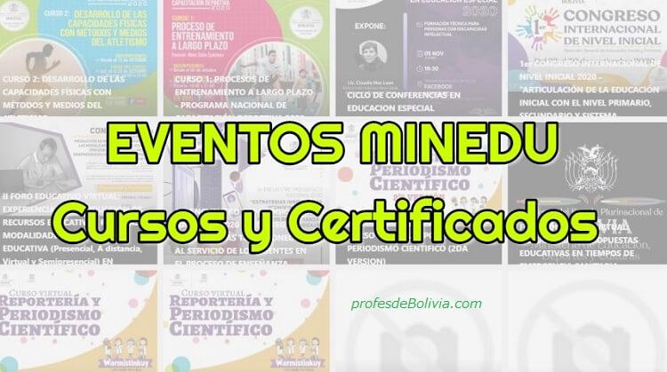 cursos y certificados del minedu
