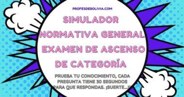 Simulador Para El Examen De Ascenso De Categoría – Normativa General 【2020】Con Temporizador