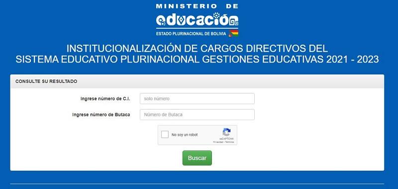 Planilla y hoja de respuestas examen de institucionalización de cargos directivos