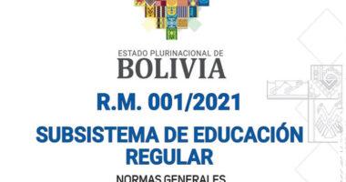Normas Generales Para La Gestión Educativa R.M. 001【2021】