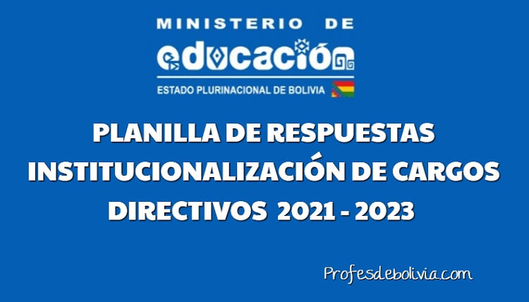planilla de institucionalizacion de cargos directivos