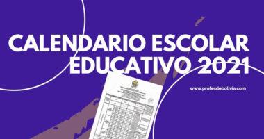 Calendario Escolar Educativo 2021